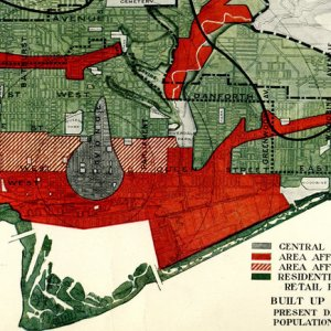 Map Showing Extent and Character of Occupancy of the Area Required By Toronto (No Break in Existing Barriers)