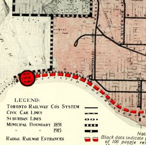 Plan Showing Recommended Radial Railway Entrances